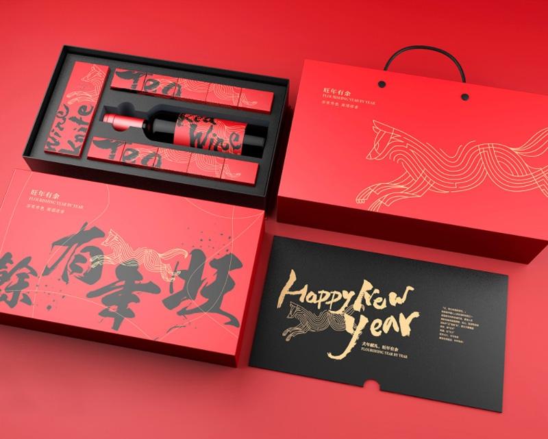 新年送礼红酒坚果系列礼盒