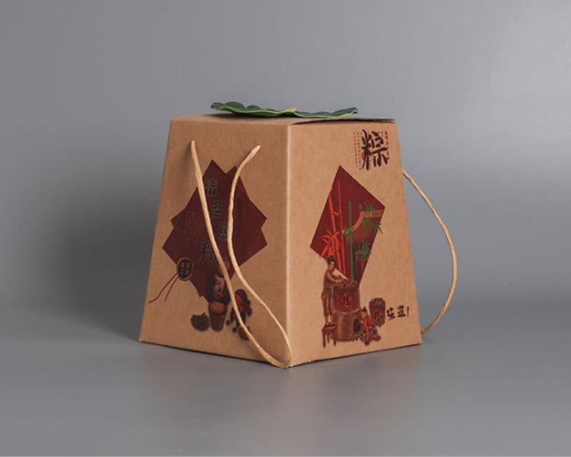荷叶粽子手提盒