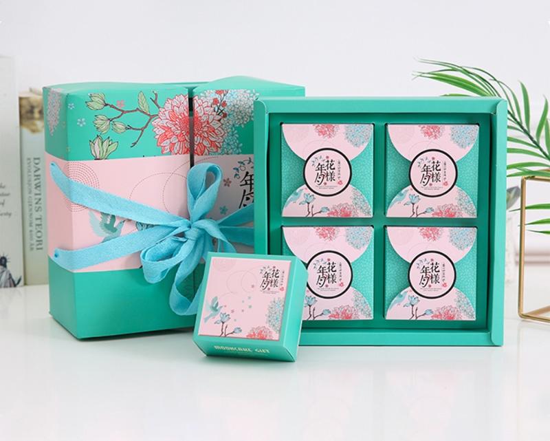 双层手提广式月饼盒