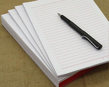 单线信纸印刷