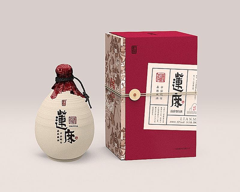 莲麻酒包装盒