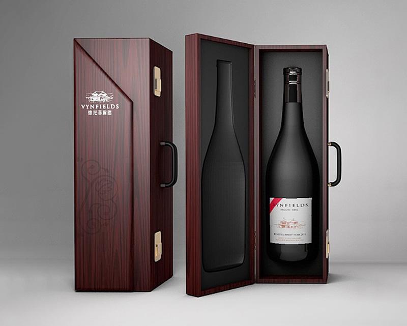 木质红酒手提盒