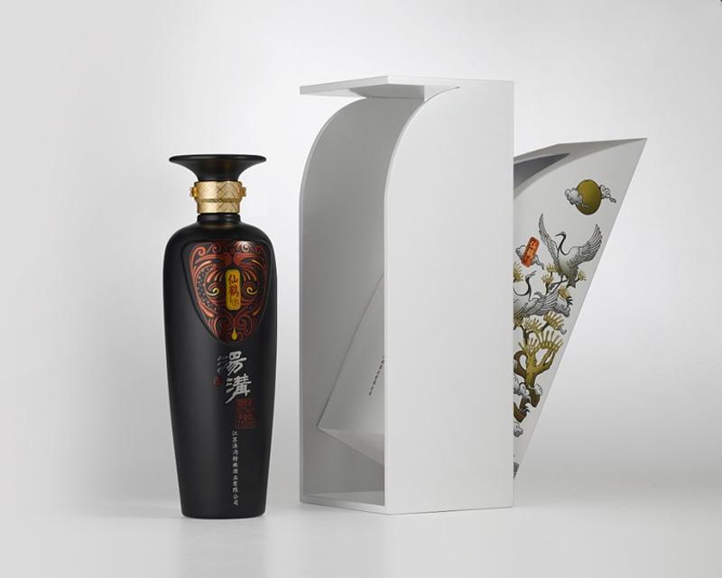 汤沟仙鹤酒酒包装设计