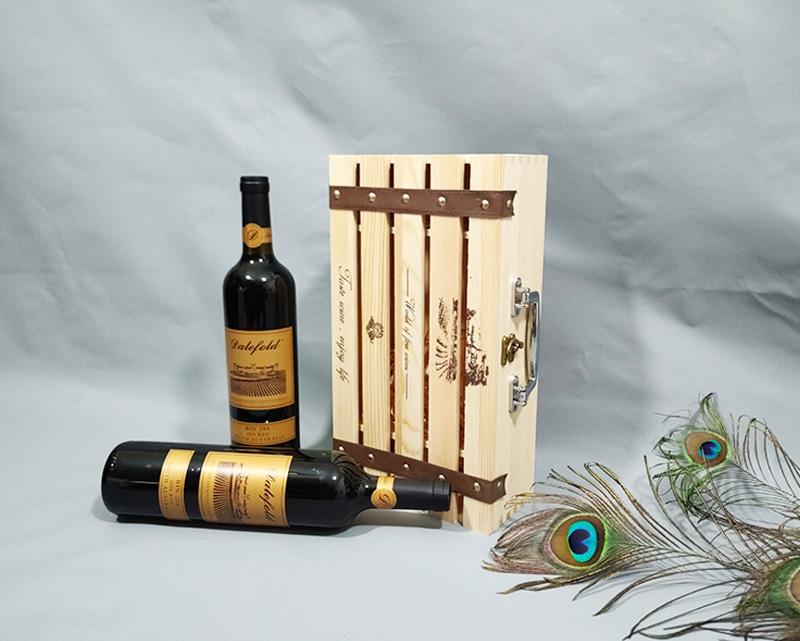 高档红酒双支木质礼盒