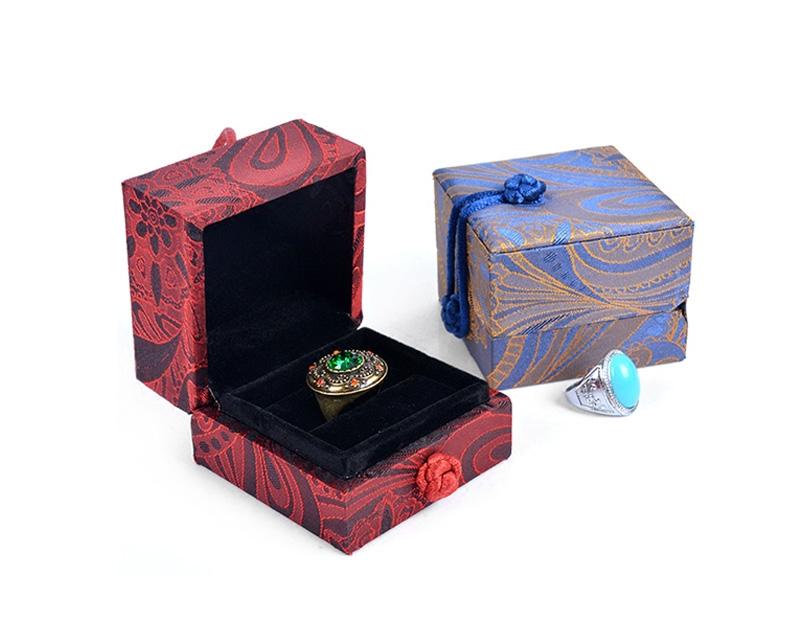 复古风首饰盒锦盒玉石包装盒