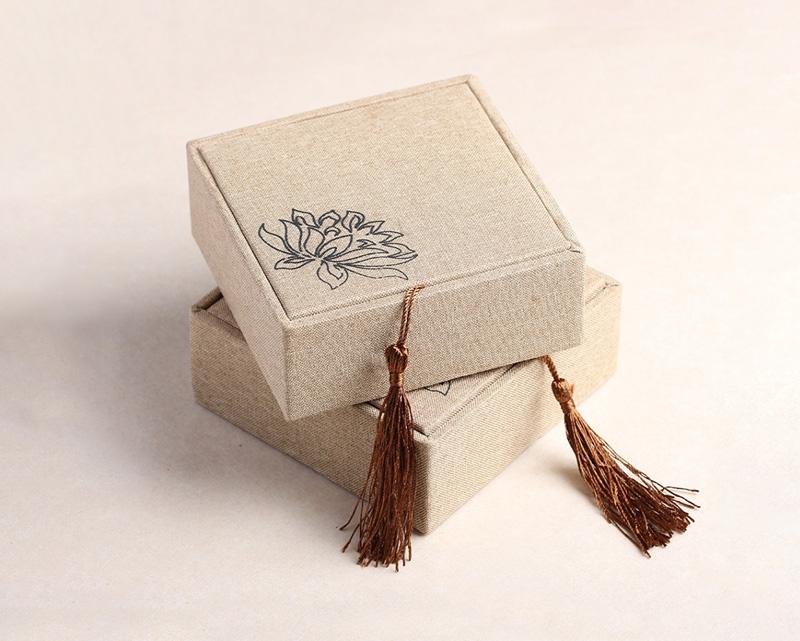 精品亚麻布珠宝盒首饰盒
