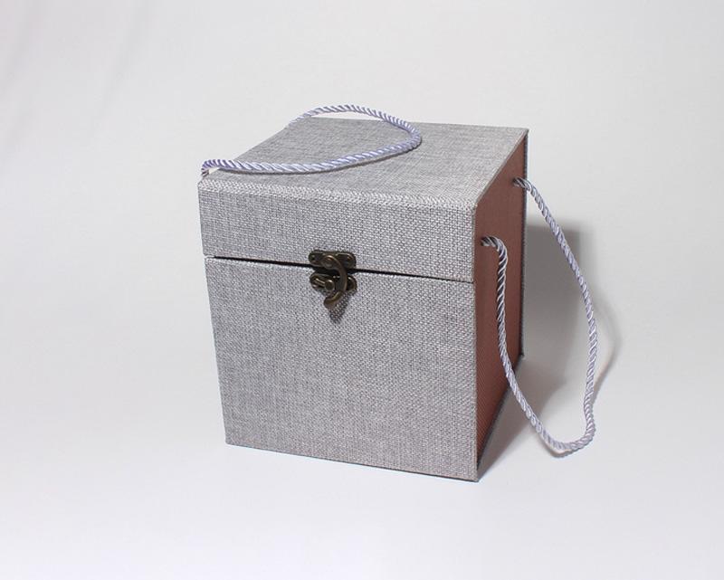 亚麻布锦盒包装盒