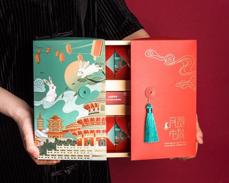 中秋月饼包装盒创意手提盒