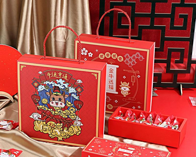 春节拜年糖果伴手礼品盒